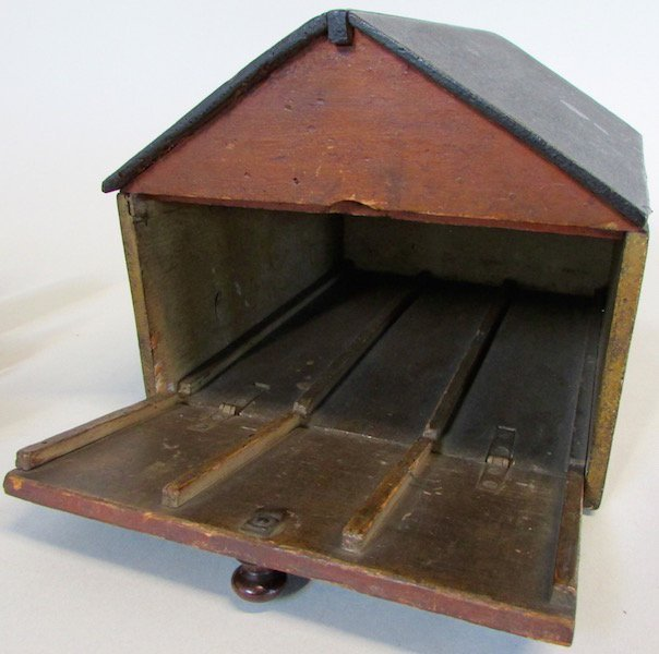 19th C. Childs Wooden Train Station - 3