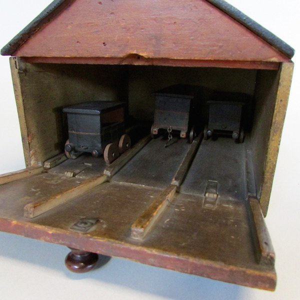 19th C. Childs Wooden Train Station - 4