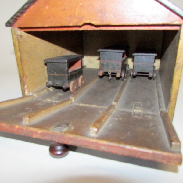 19th C. Childs Wooden Train Station - 5