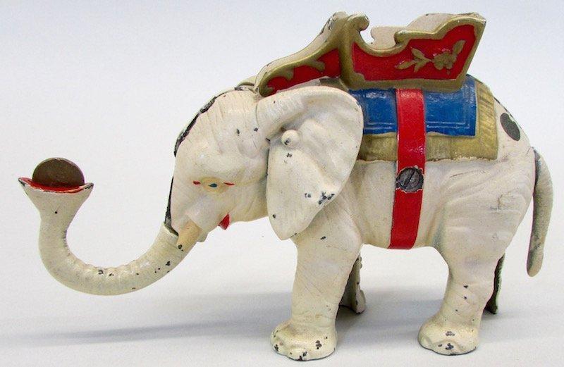 Hubley Cast Iron Mechanical Elephant Bank