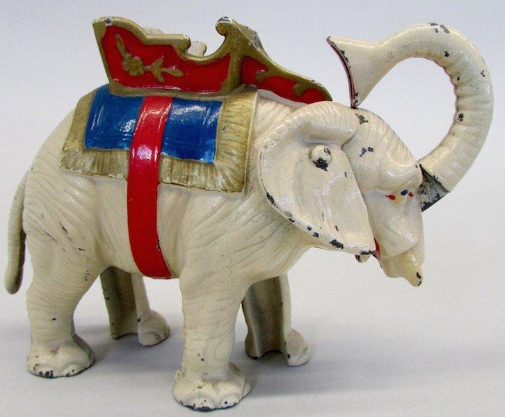 Hubley Cast Iron Mechanical Elephant Bank - 3