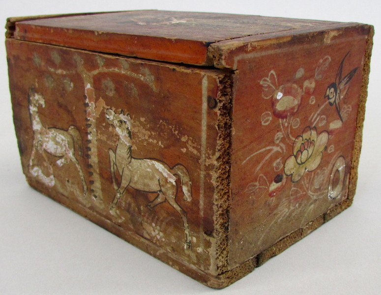 Chinese Tea Box with Bone Game Counters
