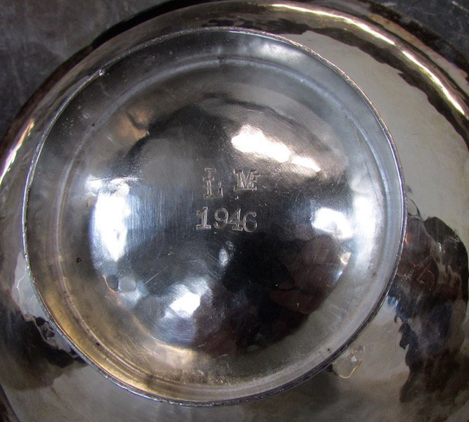 Five Hand Hammered Silver Tablewares - 3