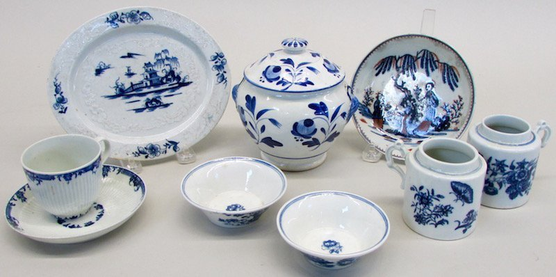 Group of Blue and White Tea Wares
