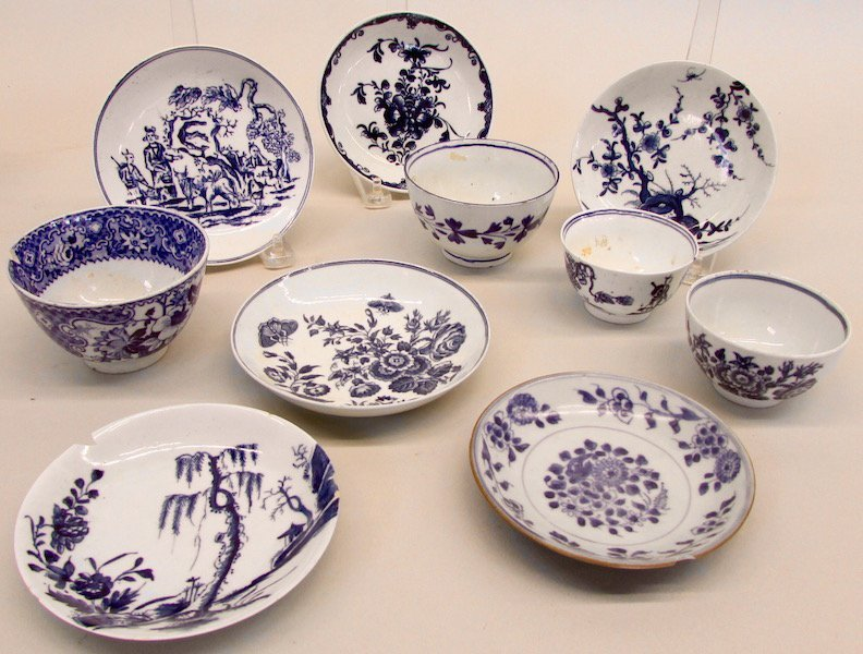 Group of Blue and White Tea Wares - 2