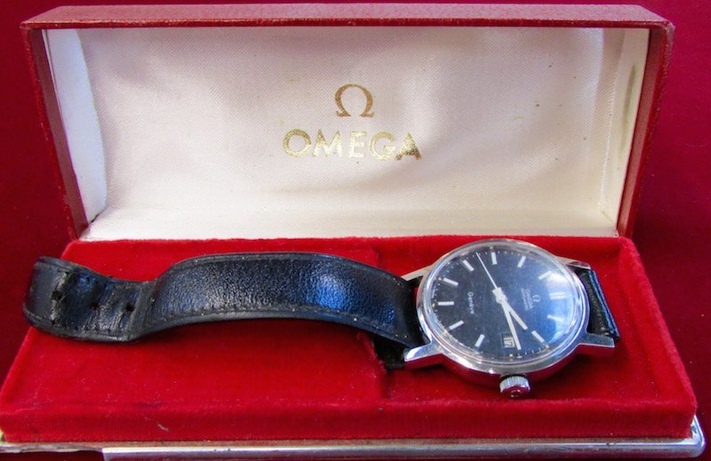 Cased Omega Watch Together with a Bulova Watch