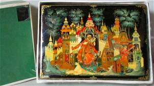 "Palekh, A Russian Box""Song of the Merchant Kalashnikov"""