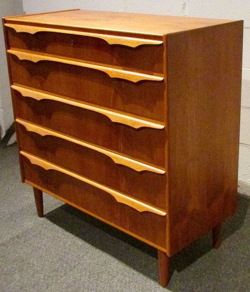 "Danish Teak ""Trekanten"" 5 Drawer Chest - 2"