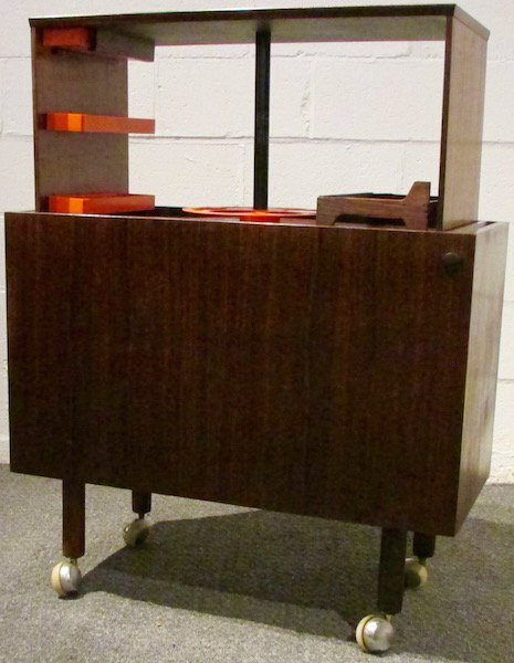 "Danish Rosewood ""Pop-up"" Bar  c.1960"