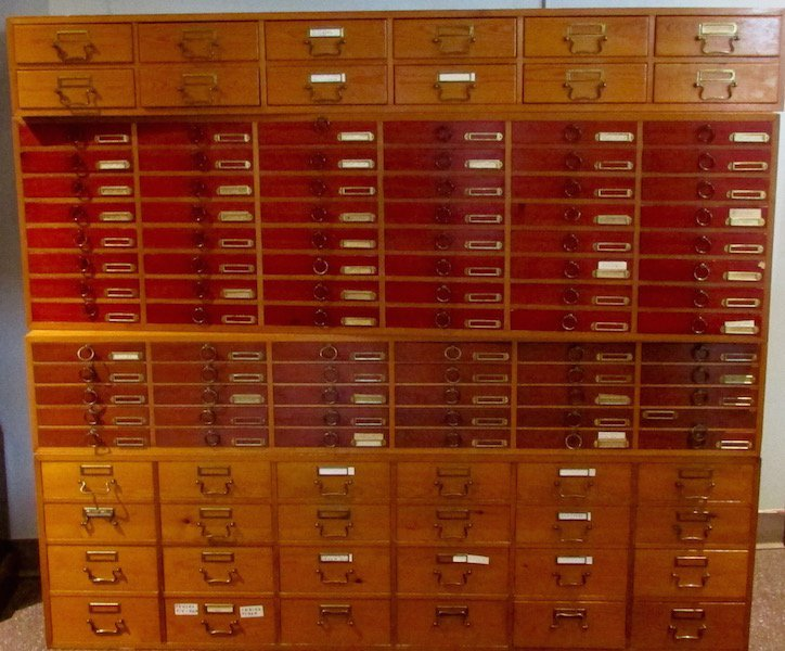 "Four Section Custom ""Specimen"" Cabinets"