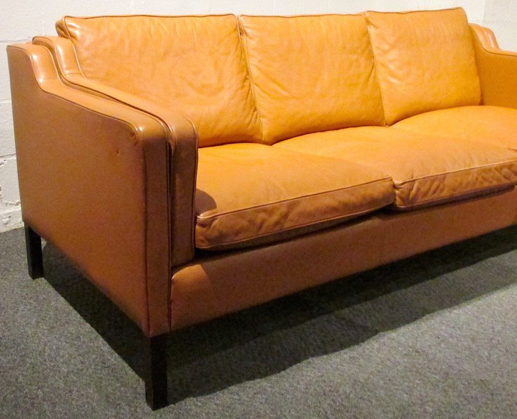 Stouby 3 Section Leather Couch, 1980's - 2