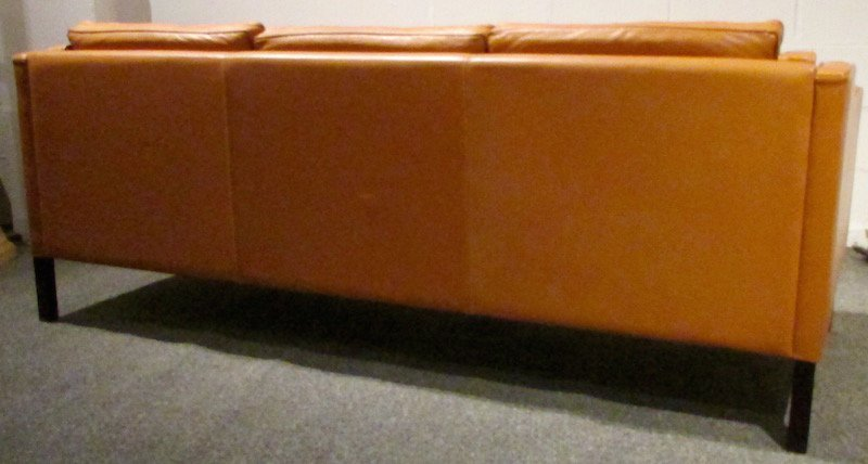 Stouby 3 Section Leather Couch, 1980's - 5