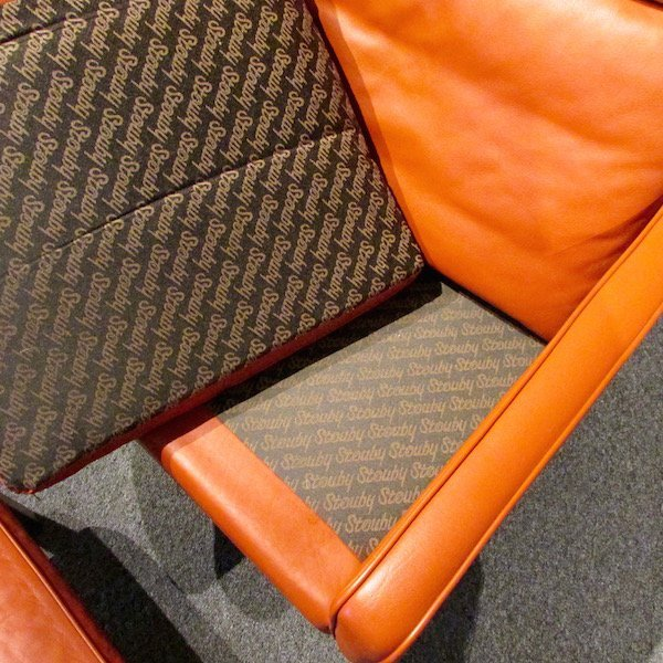 Stouby Leather WingChair and Ottoman, 1970's - 3