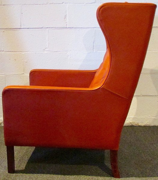 Stouby Leather WingChair and Ottoman, 1970's - 4