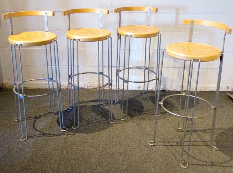 "4 ""Design Borge Lindau"" Bar Stools Sweden 2003"