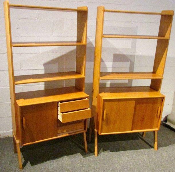 2 Danish Open Teak Bookcases - 2