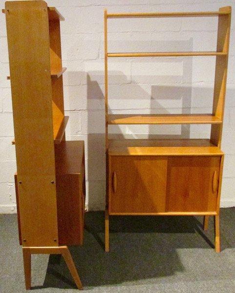 2 Danish Open Teak Bookcases - 3