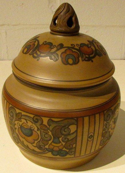 L. Hjorth Bornholm Pottery Large Covered Jar