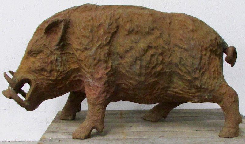 Cast Iron Figure of a Wild Boar