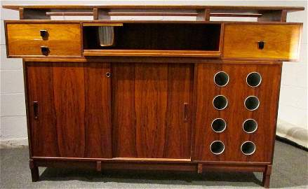 Danish Rosewood Bar by Erik Buck for Dyrlund 1960