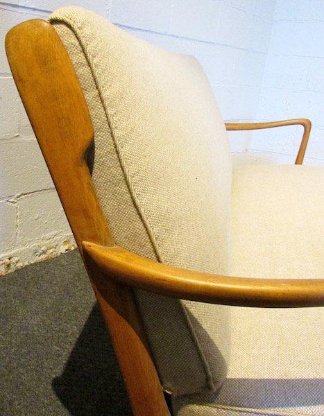 Danish Oak Upholstered 1970's Sofa - 2