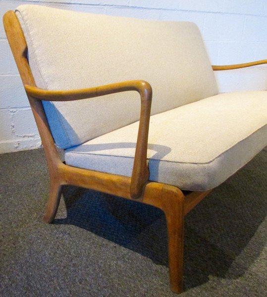 Danish Oak Upholstered 1970's Sofa - 3
