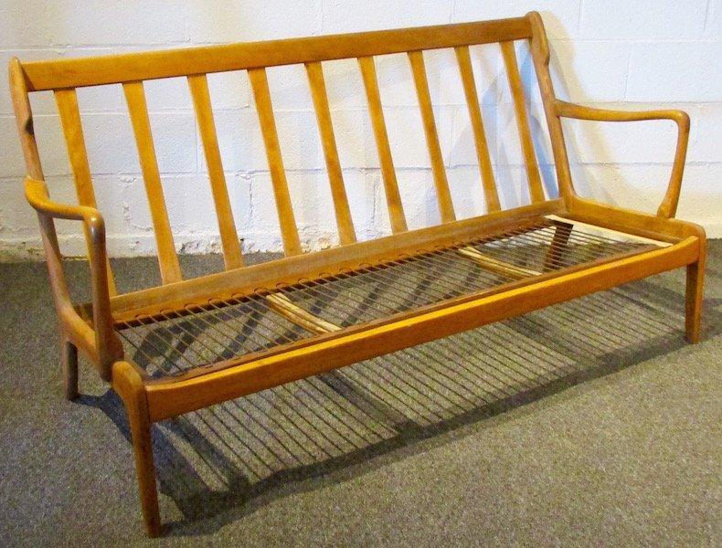 Danish Oak Upholstered 1970's Sofa - 4