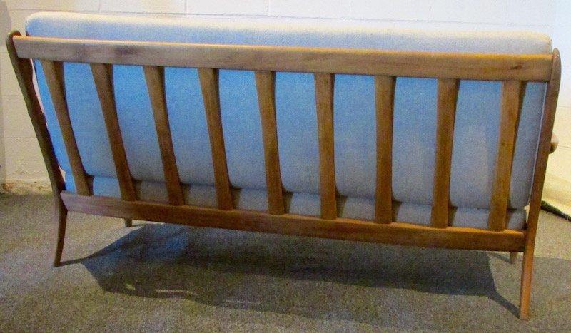 Danish Oak Upholstered 1970's Sofa - 5