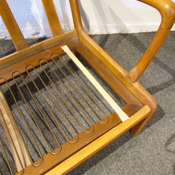 Danish Oak Upholstered 1970's Sofa - 7