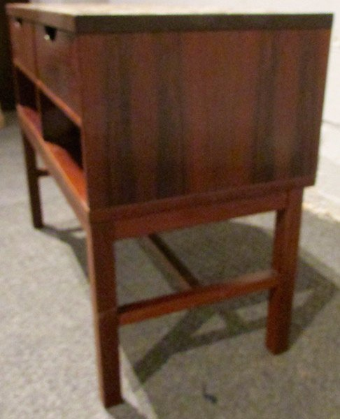 Danish Rosewood Tile-Top Table with Drawers 1970's - 4