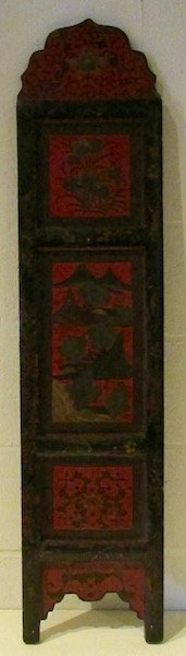 19th Century Chinese Lacquered Panel