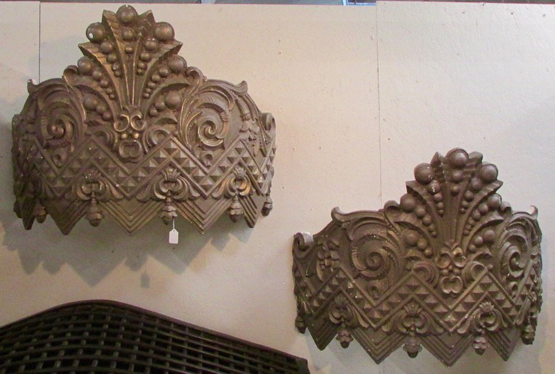 Pair of Carved Carnival Canopies, Early 20th Century