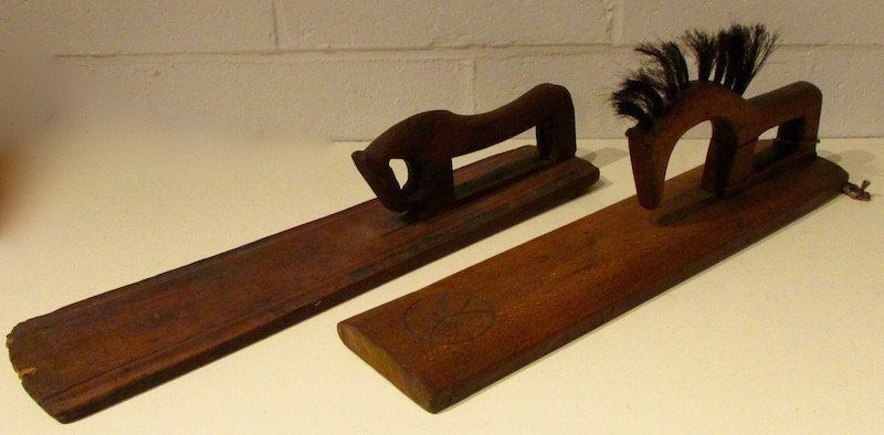 2 19th Century Scandinavian Horse Form Smoothing Boards