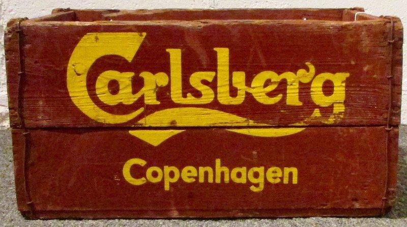 6 Painted Carlsberg Beer Crates - 2