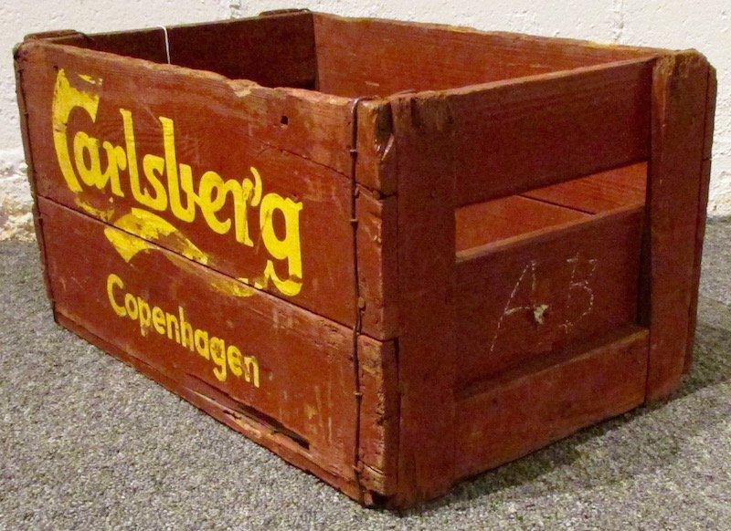 6 Painted Carlsberg Beer Crates - 3