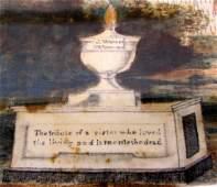 19th C. Memorial Theorem on Velvet