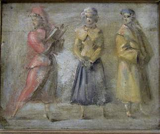 Reginald Marsh, Oil on Board depicting Three Women