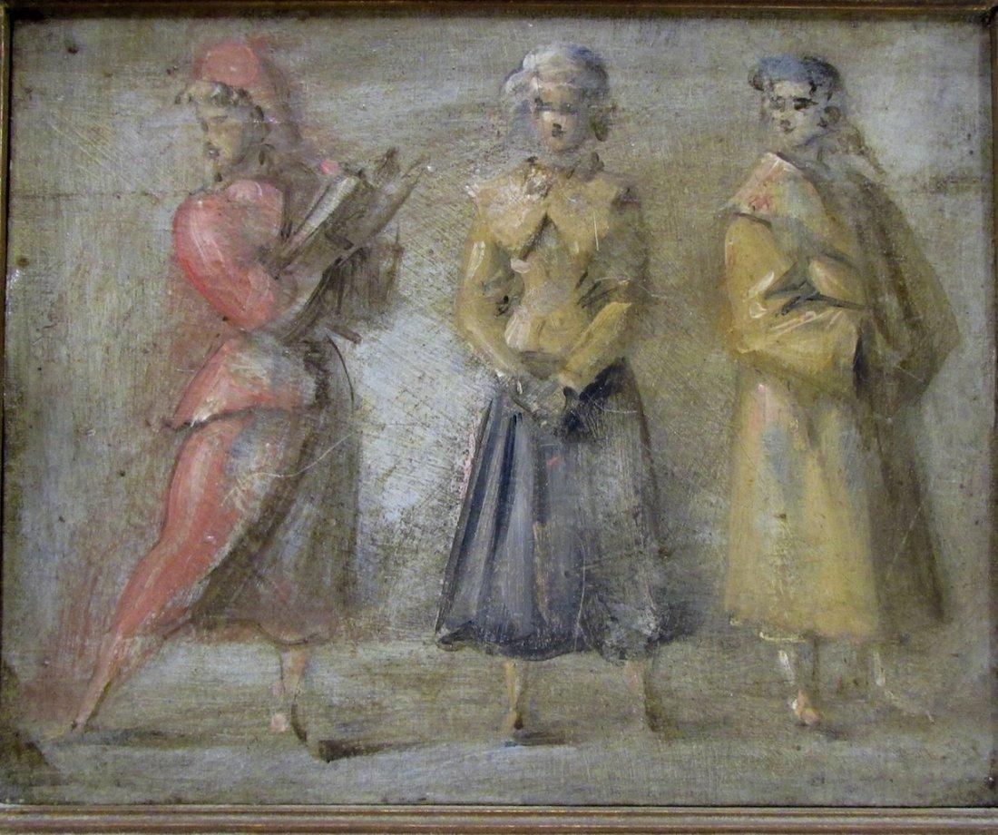 Reginald Marsh, Oil on Board depicting Three Women