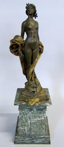 Auguste Seysses Bronze of Phryne on a Marble Base