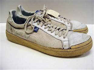 Autographed Charlton Heston Tennis Shoes