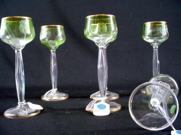 5001: Barbra Streisand Art Nouveau Wine Glass Set