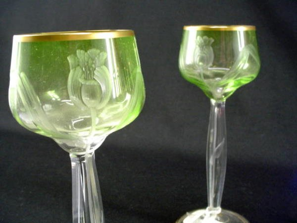 5001: Barbra Streisand Art Nouveau Wine Glass Set - 2