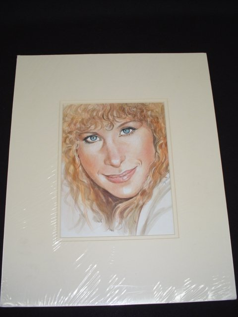 5090: Barbra Streisand Water Color Portrait