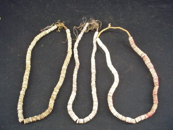 8007: Maasai set of six ostrich shell necklaces