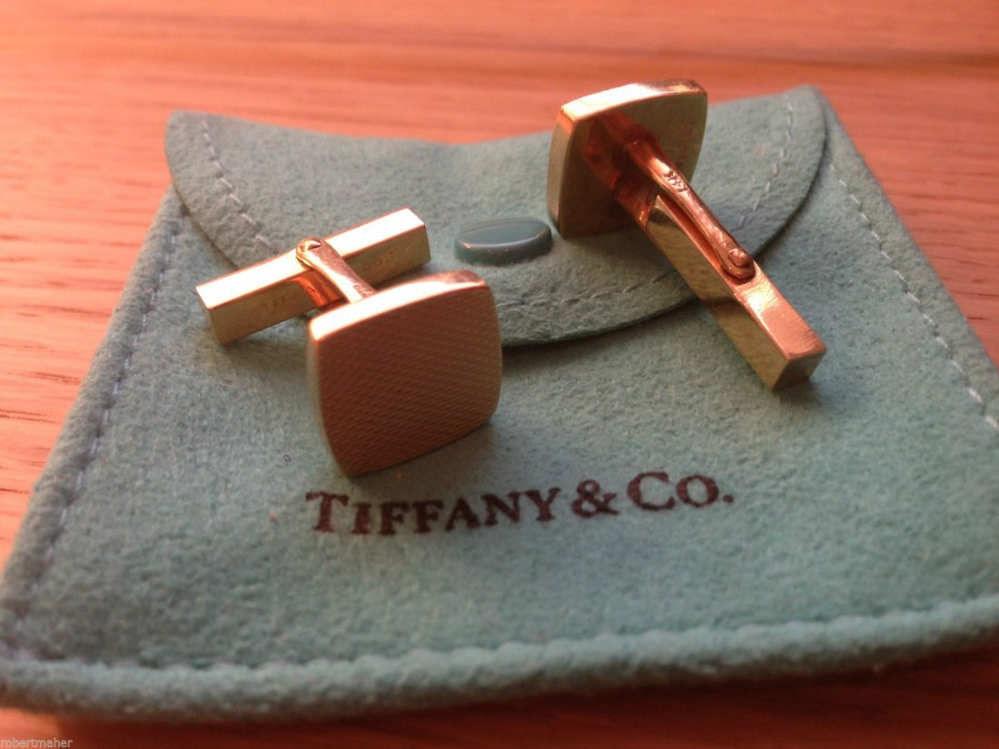 Tiffany & Co. 14K Gold Antique Cuff Links