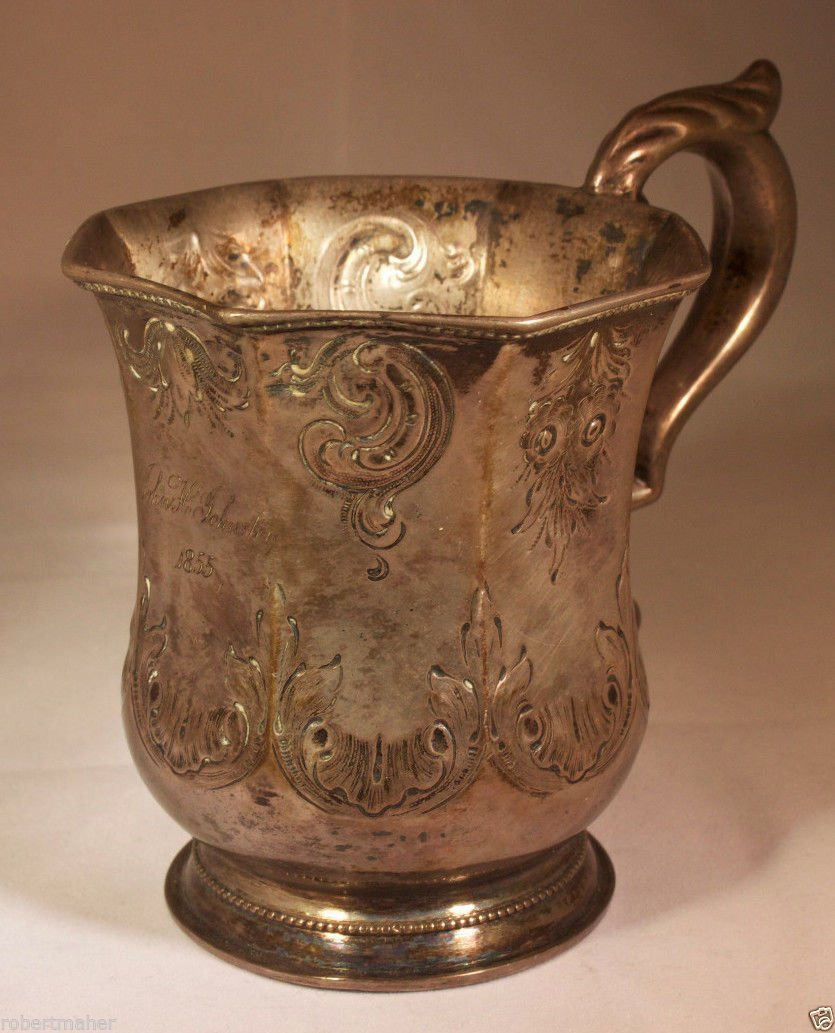 Cooper & Fisher Silver Cup Ca. 1855