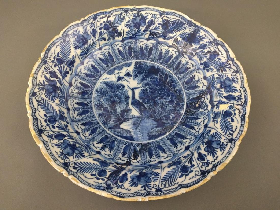 Early Delft blue charger