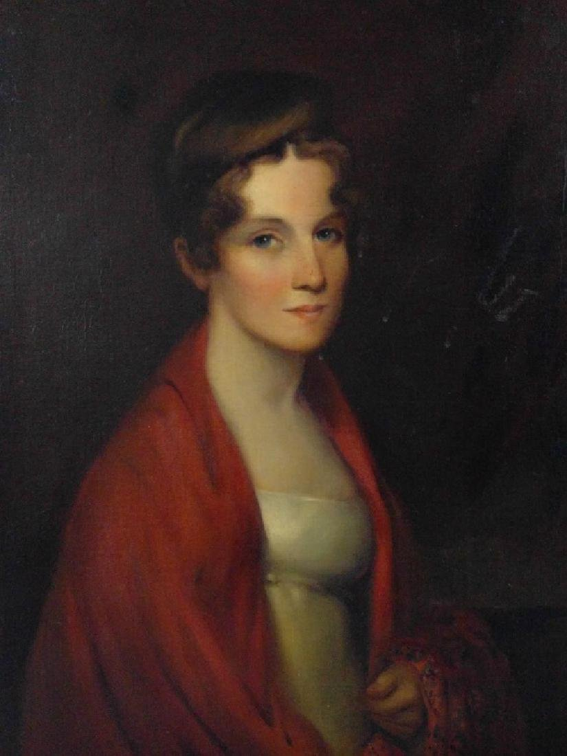 Oil on canvas portrait of Priscilla Cooper Tyler
