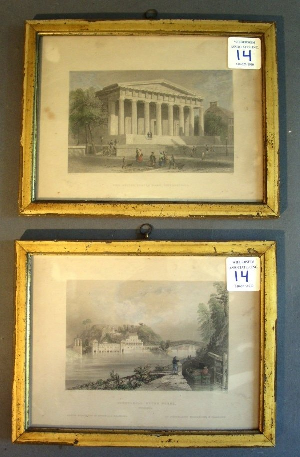 14: Two framed prints, U.S. Bank, Philadelphia and Schu