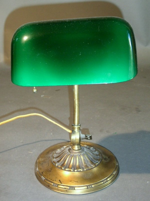 "36: ""Emeralite"" desk lamp. 12""h."